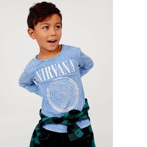 Nirvana Logo long sleeve T-Shirt 4-6 6-8 Boys NWT